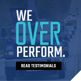 We over perform. Read our testimonials